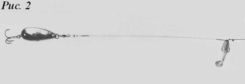 Оснастка для окуня с колебалкой